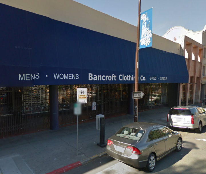 A man was stabbed this week in front of Bancroft Clothing Company, police said. Image: Google Maps