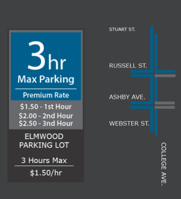 goBerkeley is working as planned in the Elmwood, so no changes are planned, staff says. (Click the map for the full presentation.) Image: City of Berkeley