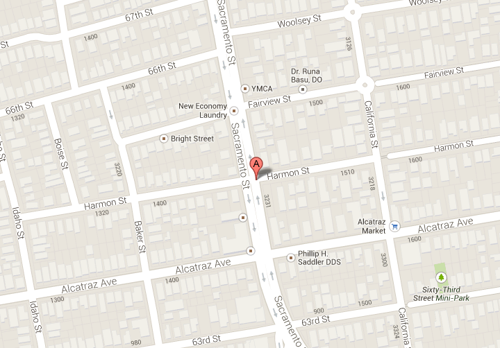 A vehicle was struck during a drive-by shooting in the 1500 block of Harmon Street over the weekend. Image: Google Maps
