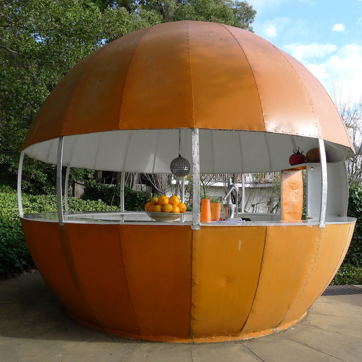 Giant orange at 722 Spruce St.  Photo: Colleen Neff.