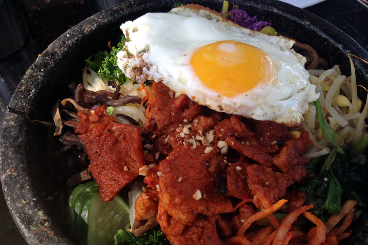 Bibimbap at Bowl'd, Emeryville. Photo: Emilie Raguso