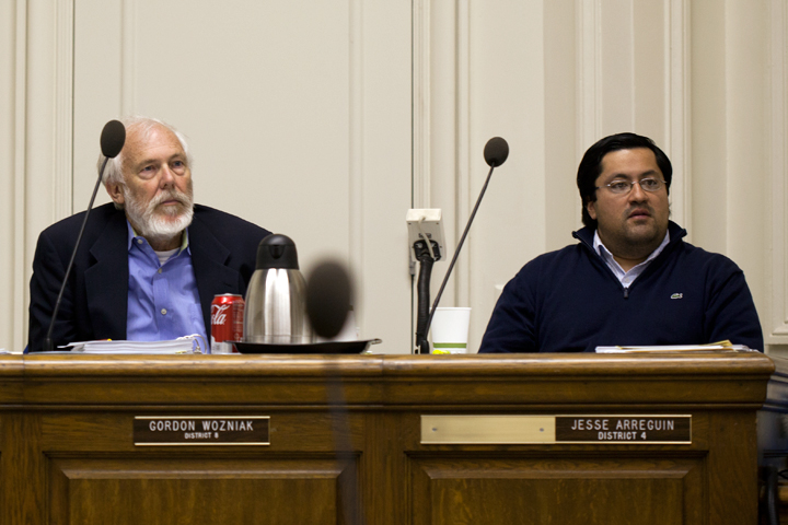 Councilmen Gordon Wozniak and Jesse Arreguín are pushing for more transparency from Berkeley's city manager. Photo: Emilie Raguso