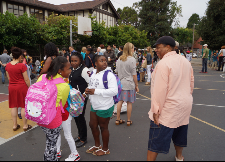 First day of school at John Muir Elementary: BUSD now requires three proofs of residency from families entering the district. Photo: BUSD/Mark Coplan