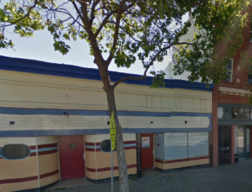 The Wolfhound Bar hopes to open at 5516 San Pablo Ave. on the Oakland-Emeryville border. Image: Google Maps