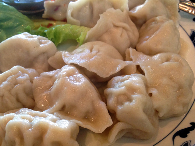 Seafood and pork dumplings are a popular choice; an order of 15 costs $8.95.