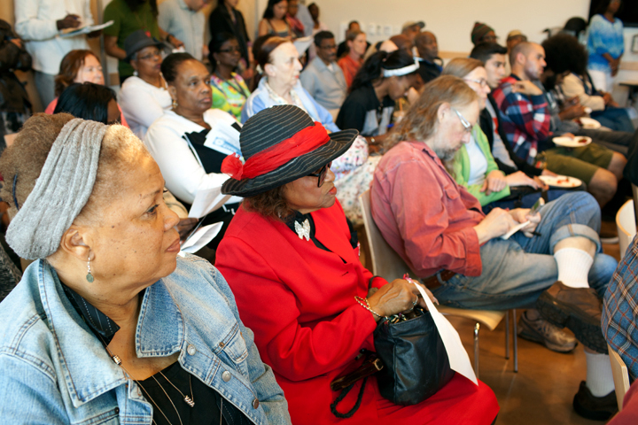 Attendees listened closely to testimony Saturday about alleged racial profiling in Berkeley. Photo: Emilie Raguso