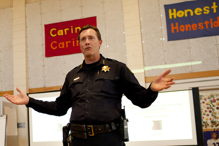 Berkeley Police Chief Michael Meehan said the public still has ample time to offer feedback. Photo: Emilie Raguso