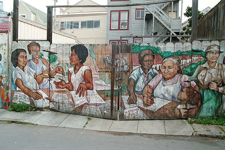 Jane Norling mural in Balmy Alley; photographer unknown.