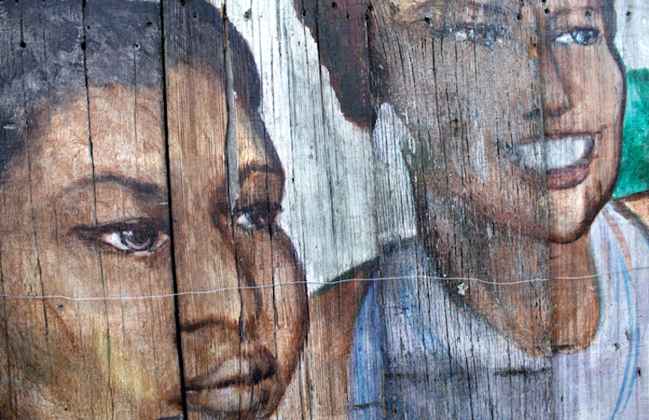 Close-up of mural; photo by Jane Norling.