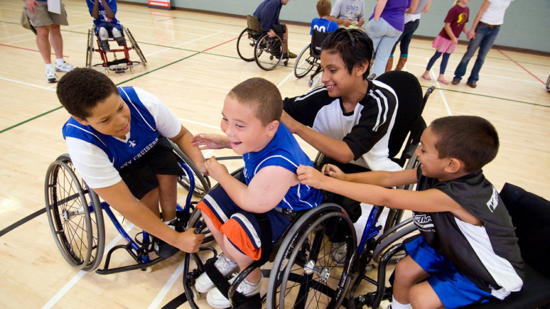 BORP's existing Youth Wheelchair Basketball program. The award will help them offer such programs to Cal students and other community members. Photo: BORP
