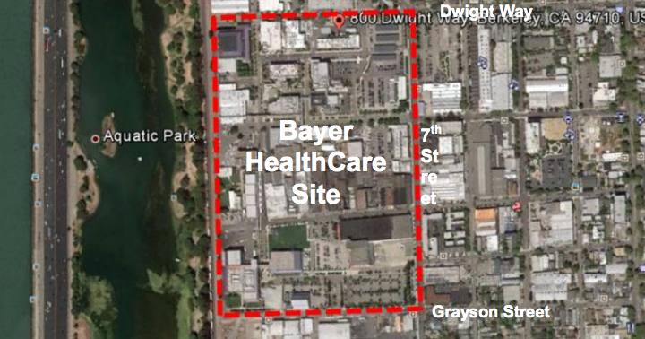 Bayer owns approximately 45 acres in West Berkeley. Image: Bayer