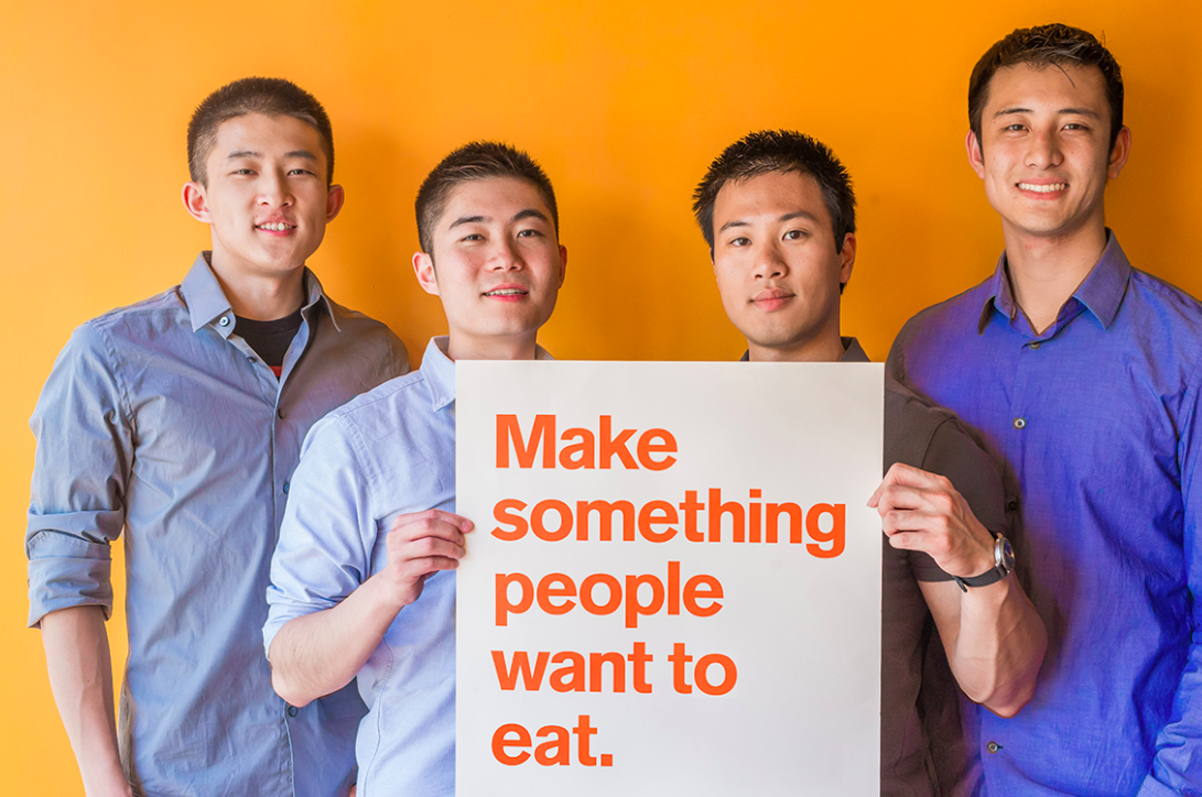 Caviar's four founders: (left to righ): Andy Zhang, Jason Wang, Richard Din, Shawn Tsao. Photo: Caviar