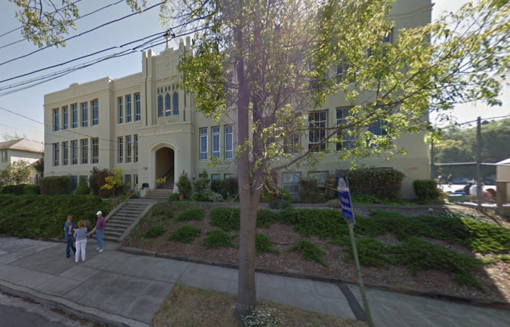 The School of the Madeleine in Berkeley is the only Berkeley school affected by what is being described as a morality clause in teachers' contracts, introduced by the new Bishop of Oakland, Michael Barber. Image: Google Maps