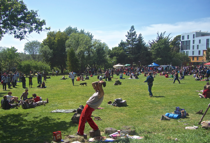 The UC Berkeley student organized Hip Hop in the Park festival in People's Park in Berkeley on Saturday, may 3, 2014. Photo: Ted Friedman