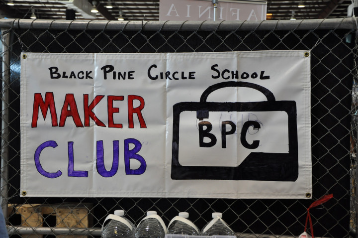 The Black Pine Circle sign at the San Mateo Maker Faire. Photo: Tales of a 3D Printer