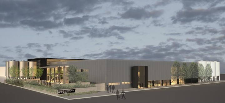 The brewery is being built in a 95,000 square foot former Kellogg's factory in San Leandro. Rendering: 21st Amendment