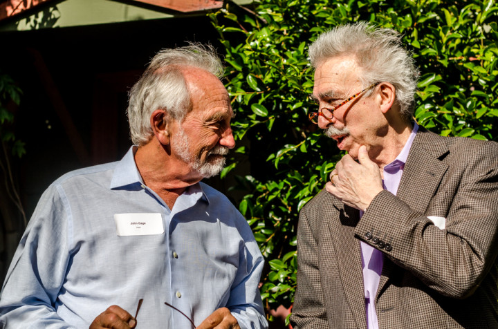John Gage and UC Berkeley Chancellor Nicholas Dirks Photo: Richard Friedman