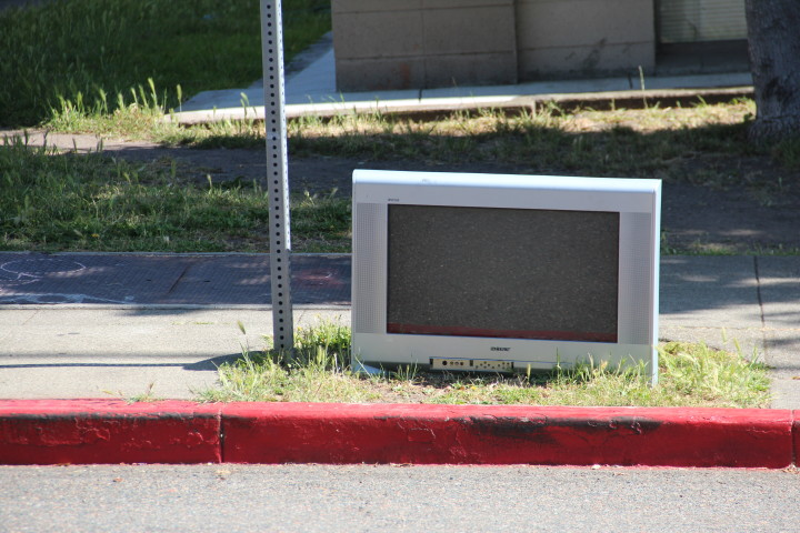 Television near Piedmont Ave. Photo: Jasper Burget