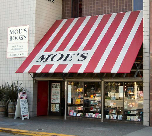 Moe's Books on Telegraph Avenue.