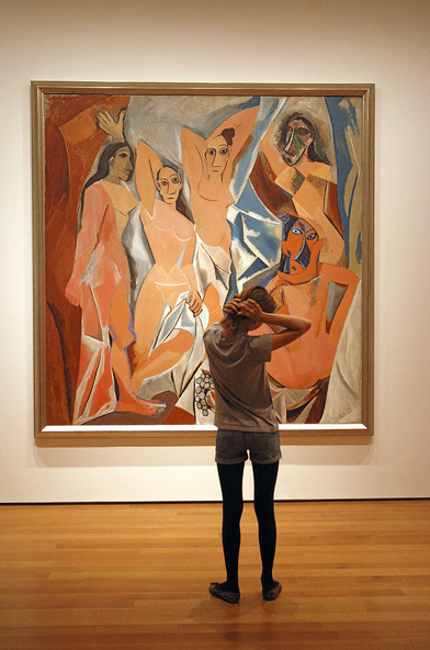 Pablo Picasso, Les Demoiselles d'Avignon (1907), Museum of Modern Art, New York. Photo: Richard Nagler