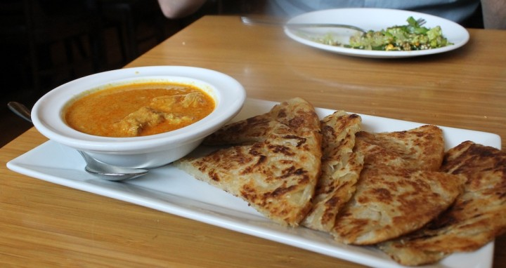 Palata with chicken curry Photo: Kate Williams