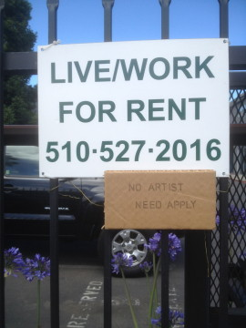 """Thomas Richardson added commentary to this """"For Rent"""" sign. Photo: Natalie Orenstein"""