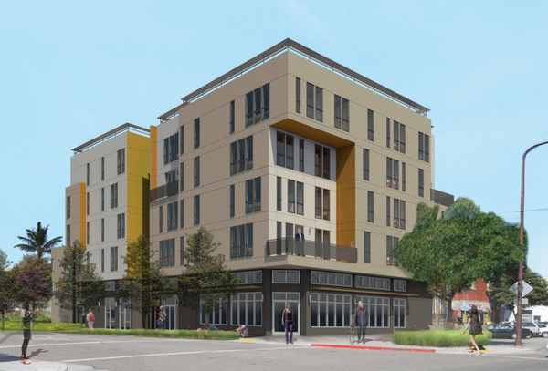 Parker Place, set to include 155 units, is the largest of about six projects approved in South Berkeley near Shattuck and Adeline. Image: LPAS Architecture + Design