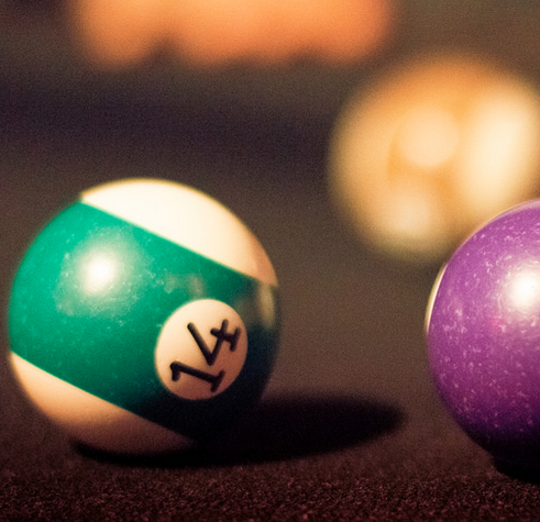 Billiard balls. Photo: André R. Santos
