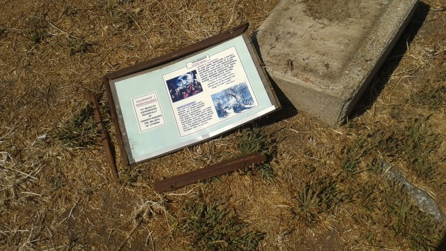 Pieces of a solar calendar installation honoring Cesar Chavez at the Berkeley waterfront have been repeatedly vandalized over the past few months. Photo courtesy of Santiago Casal