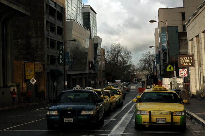 Taxis in Berkeley. Photo: Nick