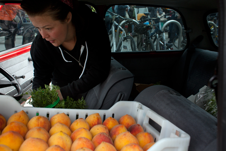 "When she ran Haven, Kim Alter said it was typical to spend $500 a day at farmers markets. ""I don't want to say I'm controlling, but I know exactly what I'm looking for,"" she said. Photo: Emilie Raguso"