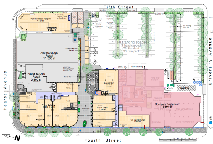 The layout planned at Fourth & Spenger. Source: Abrams/Millikan