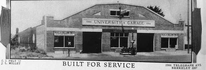 University Garage, 2566 Telegraph Avenue.  Photo courtesy of Anthony Bruce