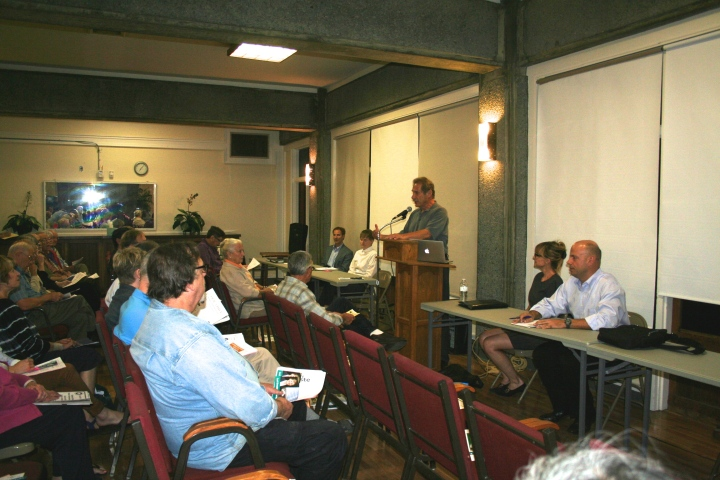 The four candidates for District 8 all spoke at a forum hosted Oct. b by the Claremont Elmwood Neighborhood Association. Photo: Frances Dinkelspiel