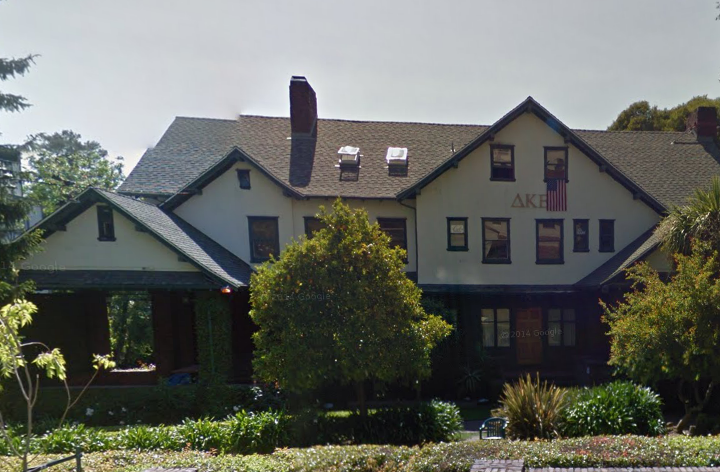 The Delta Kappa Epsilon fraternity near UC Berkeley. Photo: Google maps