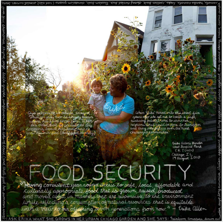 An information artwork addressing food security with photos taken in West Garfield Park in Chicago. Image: Douglas Gayeton from his book LOCAL An information artwork addressing food security with photos taken in West Garfield Park in Chicago. Image: Douglas Gayeton from his book LOCAL. Click on the image to enlarge it