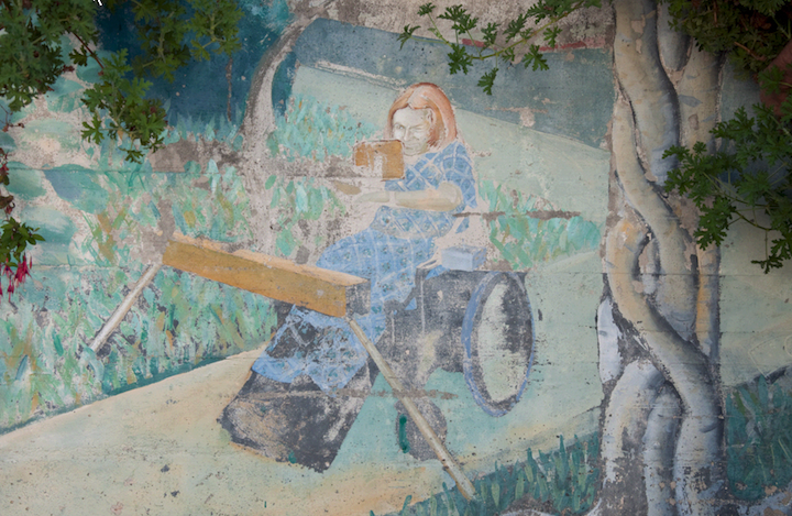 Ed Monroe mural at Center for Independent Living; photo Eduardo Pineda
