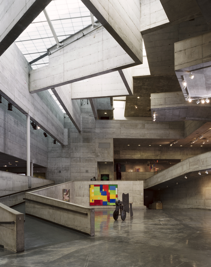 The interior of the Berkeley Art Museum, which will have a goodbye party on Saturday. Photo: Joe Fletcher/BAMPFA