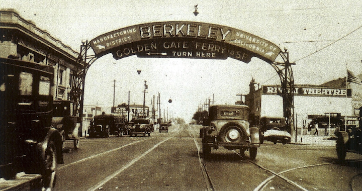 San Pablo Avenue looking north at University Avenue.  Photo: Berkeley Historical Society
