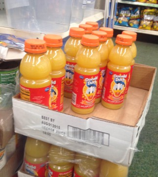 Donald Duck juice bottles sold in Dollar Tree. Photo: Seung Y. Lee