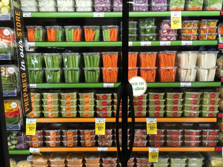 To appeal to busy families, the new Safeway has a large selection of precut fruits and vegetables. Photo: Frances Dinkelspiel