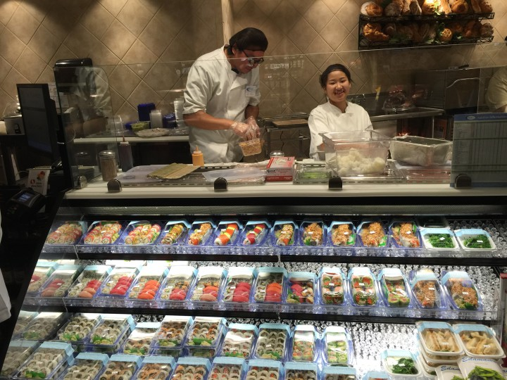 There is a huge selection of fresh sushi for sale at the new Safeway. Photo: Frances Dinkelspiel