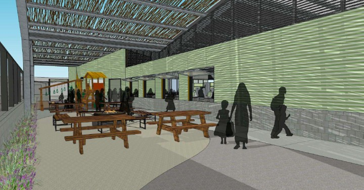 People's Front Porch Concept. Image: People's Community Market