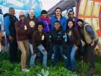 The staff of People's Grocery, a nonprofit one of whose many projects is a vegetable garden at the California Hotel. Photo: People's Grocery