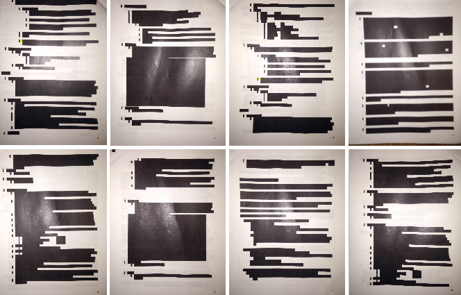 After denying a Public Records Act request from a local police watchdog group, the department responded with heavily redacted documents.