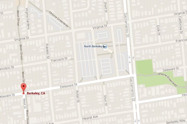 The body of a man was found on West Street in North Berkeley on Sunday, Feb. 1, 2015. Image Google Maps