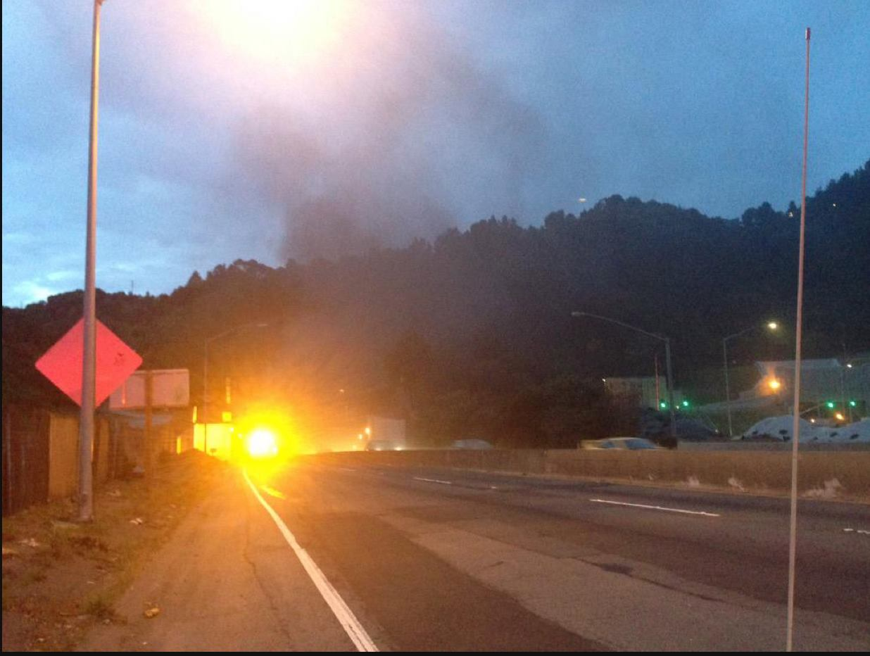 Caldecott Tunnel bore re-opens after car collision, fire