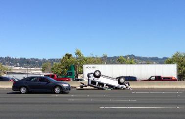 A crash on I-80 earlier this week sent five people to the hospital. Photo: Don Melandry