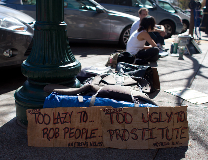 Shattuck Avenue is one area of Berkeley where the homeless most commonly congregate (file photo). Photo: Emilie Raguso