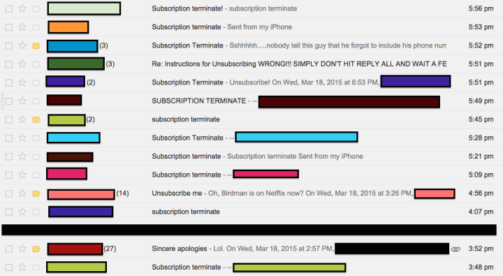 """""""Subscription terminate"""" does not work as planned."""